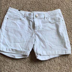 LC white denim shorts